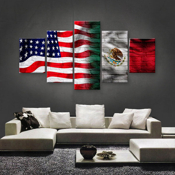 HD PRINTED LIMITED EDITION AMERICAN - MEXICAN (MEXICO) CANVAS (AMM15010)