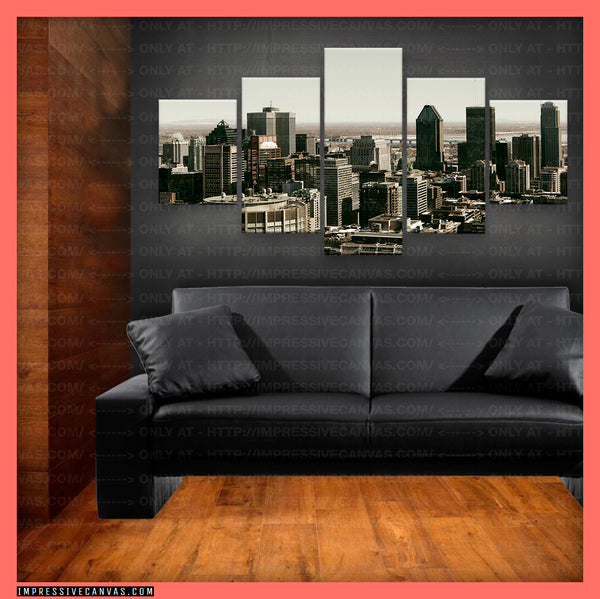 HD PRINTED LIMITED EDITION MONTREAL, CANADA CANVAS (MONTRL620002)