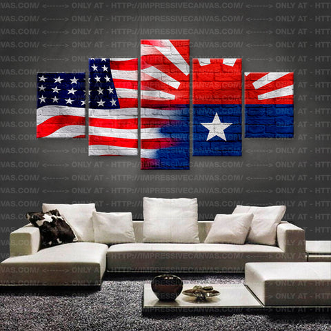 HD PRINTED LIMITED EDITION AMERICAN - KAREN (MYANMAR) FLAG CANVAS (FLAG150020A1)