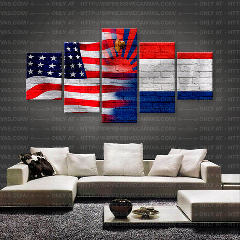 HD PRINTED LIMITED EDITION AMERICAN - KAREN (MYANMAR) FLAG CANVAS (FLAG150020A2)