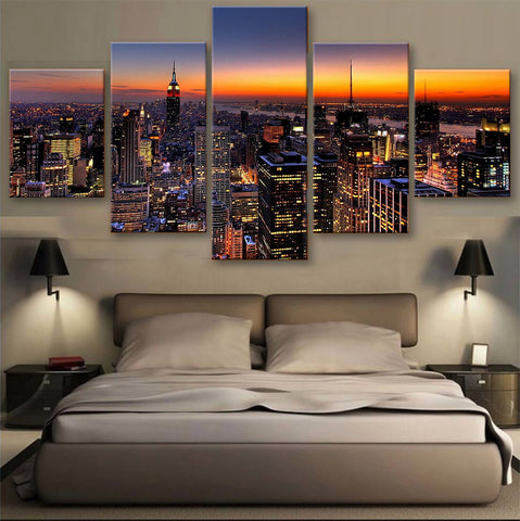 HD PRINTED LIMITED EDITION SKYLINE CANVAS (155006)