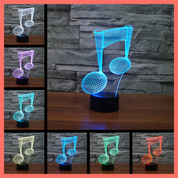SMART TOUCH 3D LED LAMP MUSIC FRENCH HORN (MLED710003)
