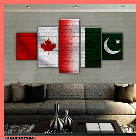 HD PRINTED LIMITED EDITION CANADIAN - PAKISTANI (PAKISTAN) CANVAS (CANPK210017)