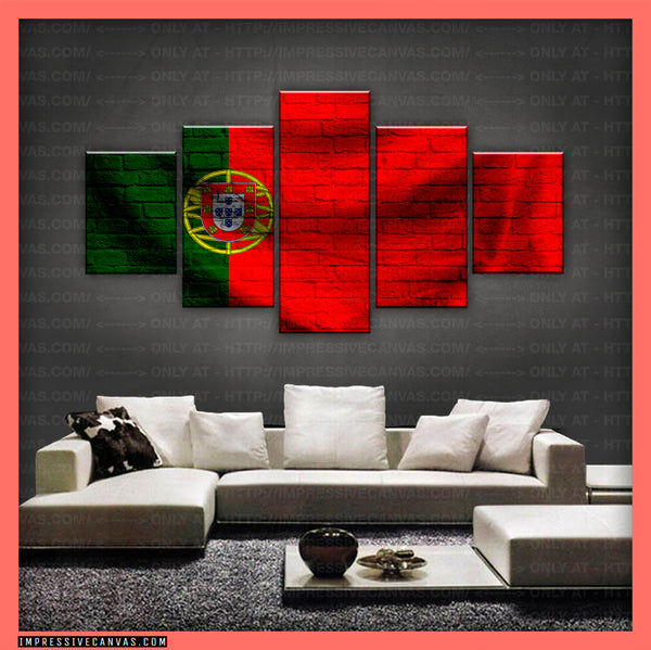 HD PRINTED LIMITED EDITION - PORTUGUESE (PORTUGAL) FLAG CANVAS (FLAG150075)