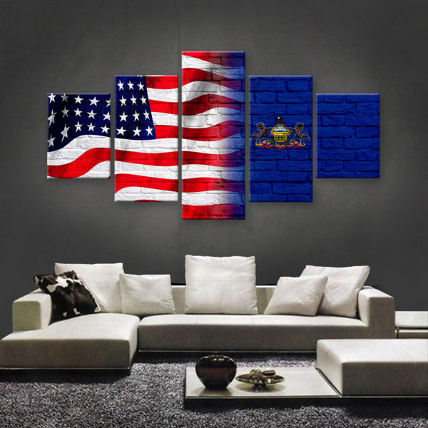 HD PRINTED LIMITED EDITION AMERICAN - BRITISH (UNION FLAG) CANVAS (AMBT15015A1)