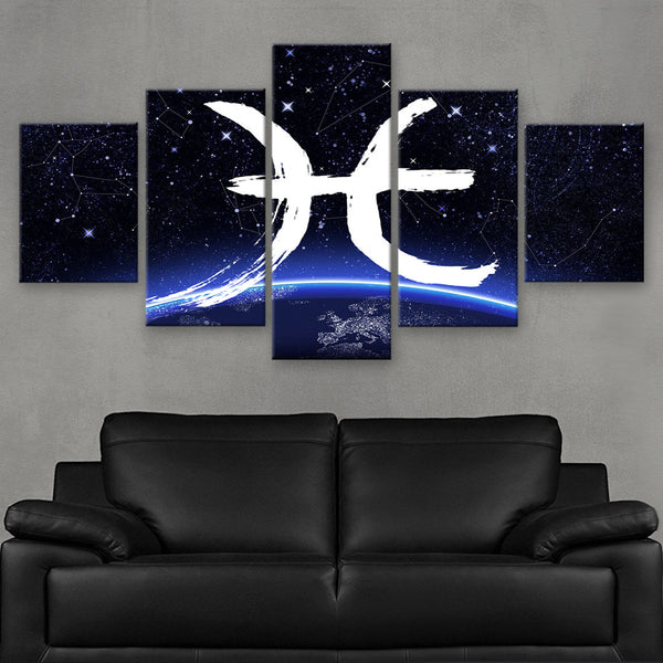 HD PRINTED LIMITED EDITION ZODIAC SIGN PISCES CANVAS (ZSIGN310016)