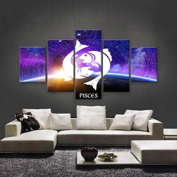HD PRINTED LIMITED EDITION ZODIAC SIGN PISCES CANVAS (ZSIGN310015)