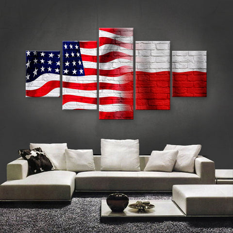 HD PRINTED LIMITED EDITION AMERICAN - POLISH (POLAND) CANVAS (AMP15012)