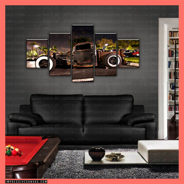 HD PRINTED LIMITED EDITION CAR CANVAS (RAT ROD) - (CARC160025)