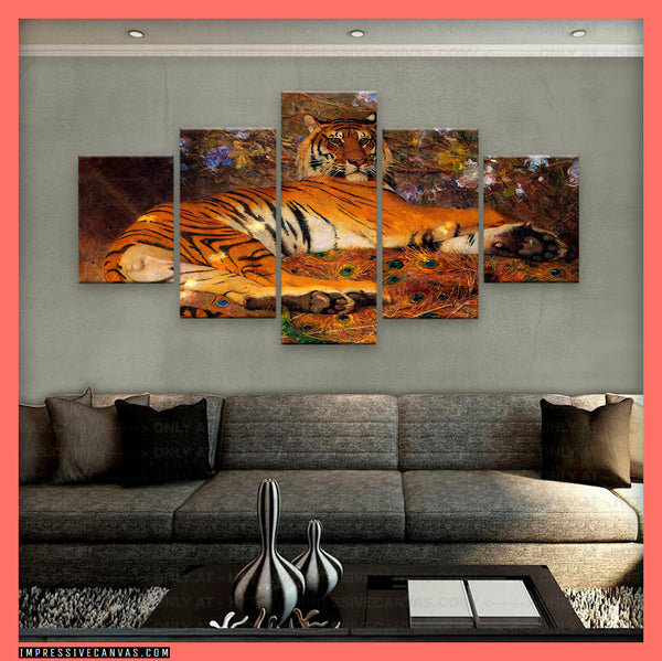 HD PRINTED LIMITED EDITION RESTING TIGER CANVAS (TIGER7163201)