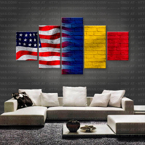 HD PRINTED LIMITED EDITION AMERICAN - ROMANIANS (ROMENIA) FLAG CANVAS (FLAG150028)