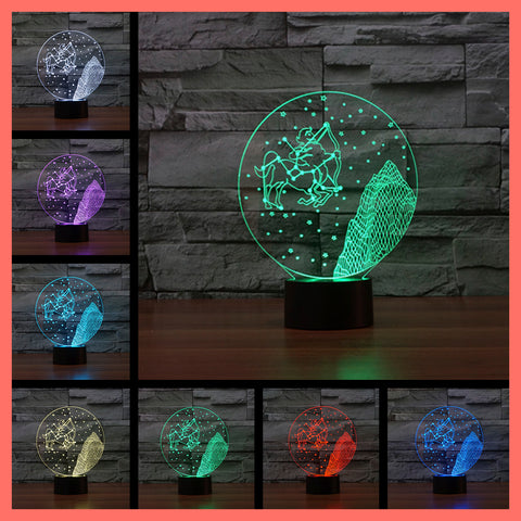 SMART TOUCH 3D LED LAMP ZODIAC SAGITTARIUS SIGN (ZLED610003)