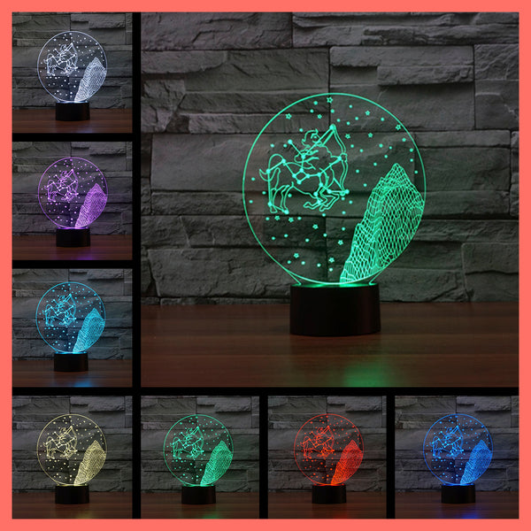 SMART TOUCH 3D LED LAMP ZODIAC GEMINI SIGN (ZLED610011)
