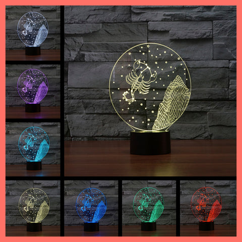 SMART TOUCH 3D LED LAMP ZODIAC SCORPIO SIGN (ZLED610004)