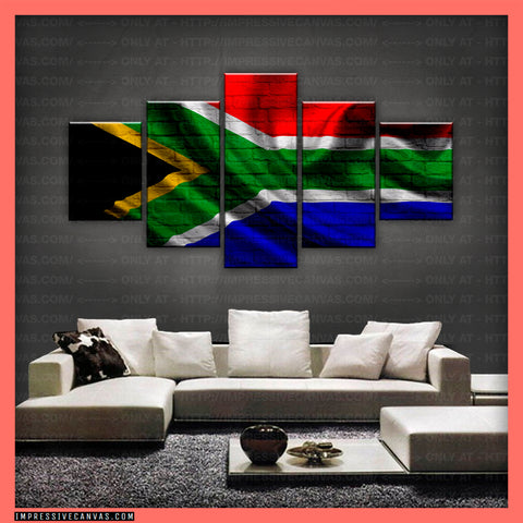 HD PRINTED LIMITED EDITION  - SOUTH AFRICAN (SOUTH AFRICA) FLAG CANVAS (FLAG150076)