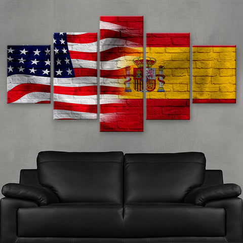 HD PRINTED LIMITED EDITION AMERICAN - SPANIARD (SPAIN) FLAG CANVAS (FLAG120065)