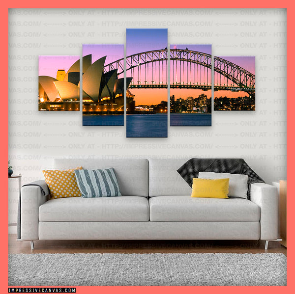 HD PRINTED LIMITED EDITION SYDNEY, AUSTRALIA CANVAS (SYDNEY810003B2)