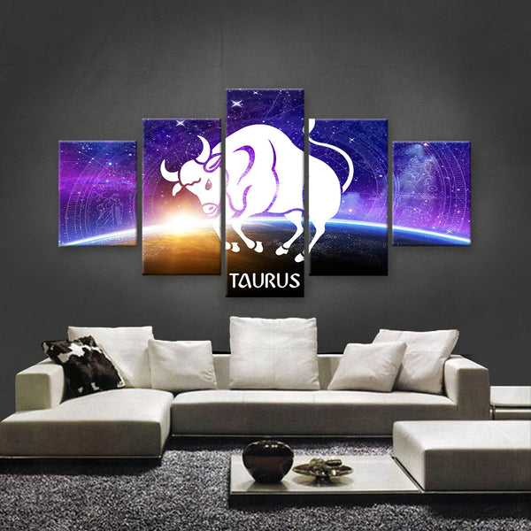 HD PRINTED LIMITED EDITION ZODIAC SIGN TAURUS CANVAS (ZSIGN310021)