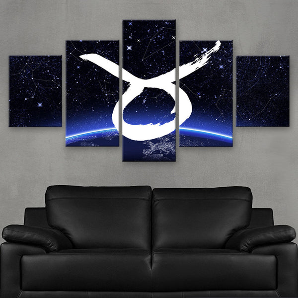HD PRINTED LIMITED EDITION ZODIAC SIGN TAURUS CANVAS (ZSIGN310022)