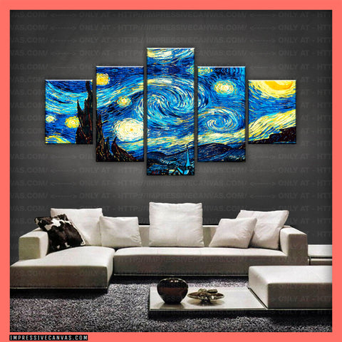 HD PRINTED LIMITED EDITION THE STARRY NIGHT CANVAS (ARTCA150011)
