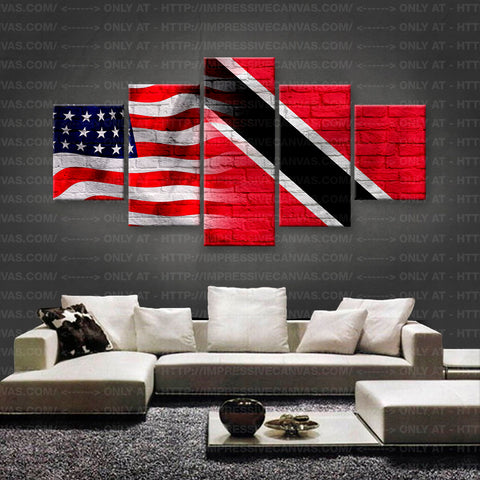 HD PRINTED LIMITED EDITION AMERICAN - TOBAGONIAN (TRINDADE E TOBAGO) FLAG CANVAS (FLAG150037)