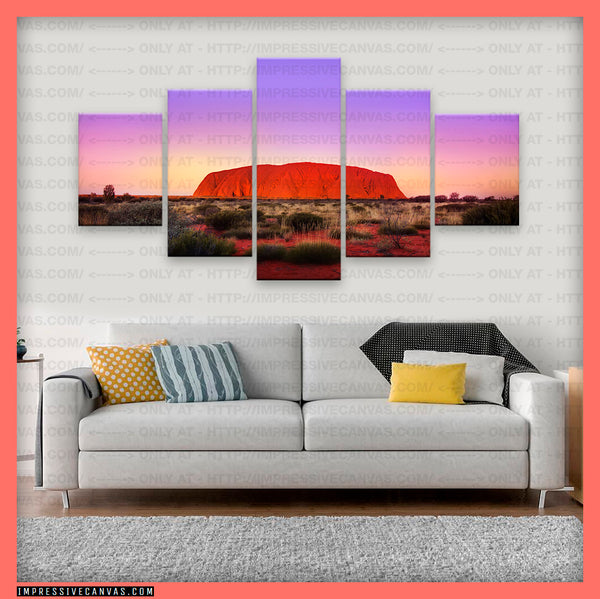 HD PRINTED LIMITED EDITION ULURU AYERS ROCK, AUSTRALIA CANVAS (ULURU810005A1)