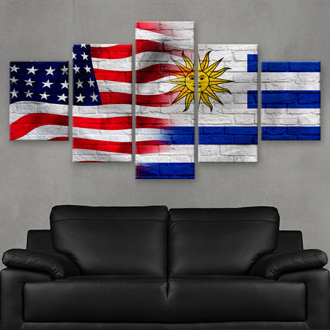 HD PRINTED LIMITED EDITION AMERICAN - URUGUAYANS (URUGUAY) FLAG CANVAS (FLAG120069)