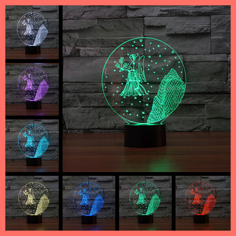 SMART TOUCH 3D LED LAMP ZODIAC VIRGO SIGN (ZLED610005)