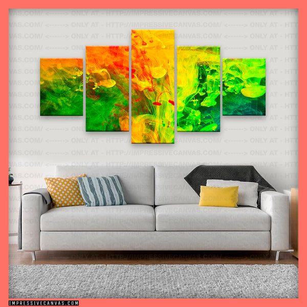 HD PRINTED LIMITED EDITION ABSTRACT ART CANVAS (ABT170003)