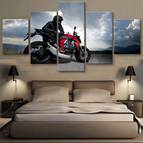HD PRINTED LIMITED EDITION BIKER CANVAS (154001)