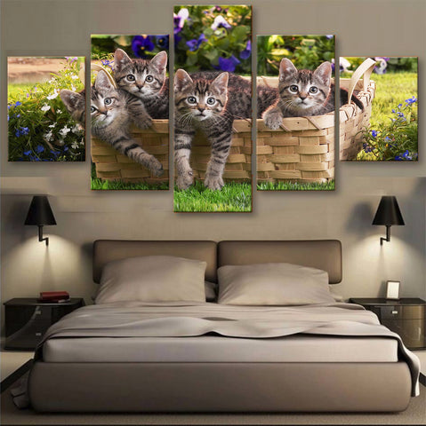 HD PRINTED LIMITED EDITION CATS CANVAS (156004)