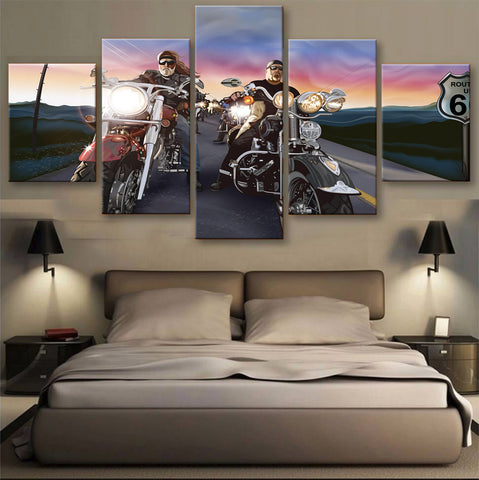 HD PRINTED LIMITED EDITION BIKER CANVAS (154004)