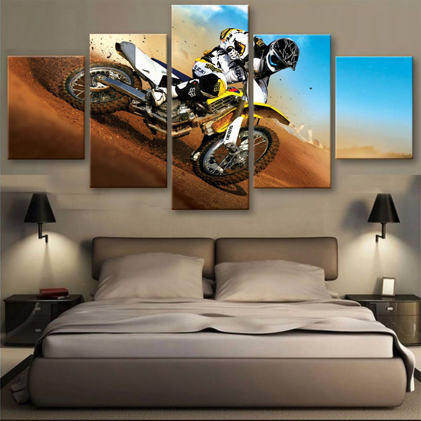 HD PRINTED LIMITED EDITION BIKER CANVAS (154002)