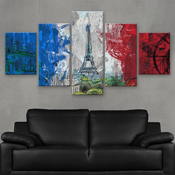 HD PRINTED LIMITED EDITION FRENCH FLAG CANVAS (FLAG120037)