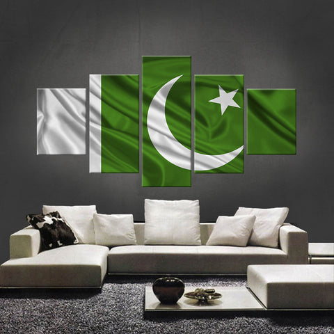 HD PRINTED LIMITED EDITION PAKISTAN (PAKISTAN) FLAG CANVAS (FLAG120011)