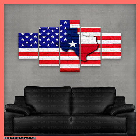 HD PRINTED LIMITED EDITION AMERICA-TEXAS CANVAS (AMTX1500201A)