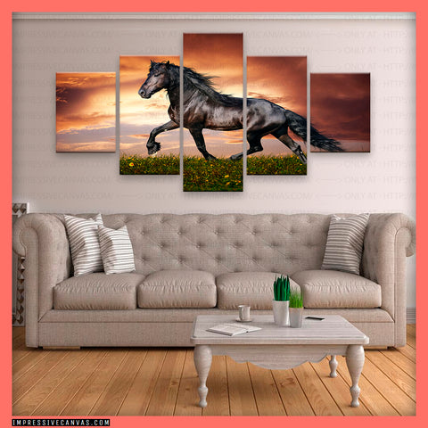 HD PRINTED LIMITED EDITION HORSES CANVAS (HORSE8151001)