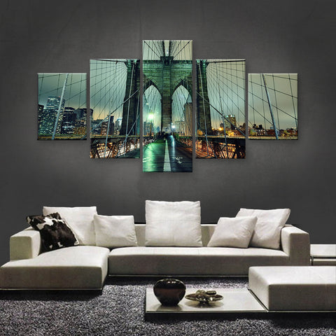 HD PRINTED LIMITED EDITION BROOKLYN BRIDGE, NEW YORK CANVAS (SKC155010)