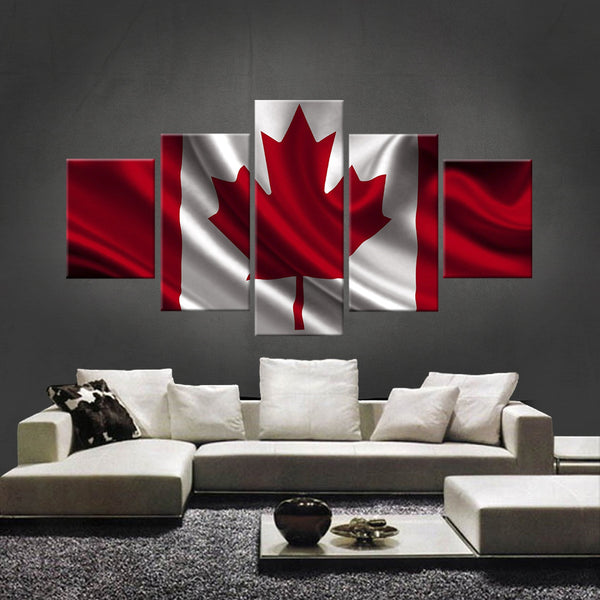 HD PRINTED LIMITED EDITION CANADIAN (CANADA) FLAG CANVAS (FLAG120017)