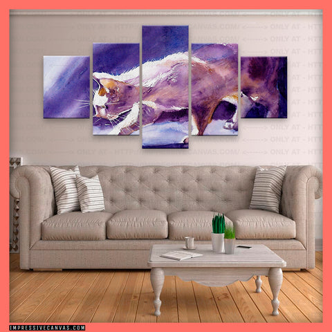 HD PRINTED LIMITED EDITION CATS CANVAS (156011)