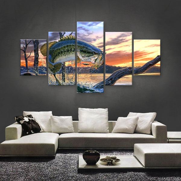 HD PRINTED LIMITED EDITION FISHING CANVAS (FSC155001)