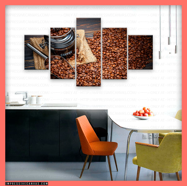 HD PRINTED LIMITED EDITION COFFEE LOVERS CANVAS (BEAN615154013)
