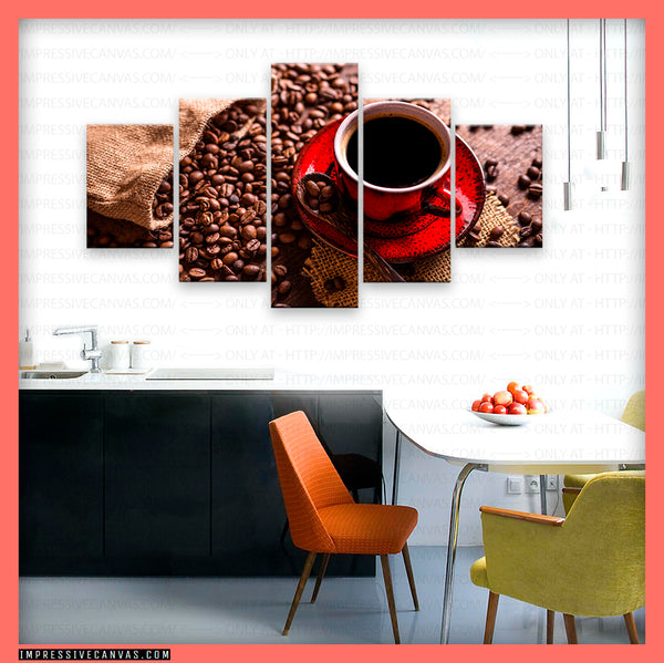 HD PRINTED LIMITED EDITION COFFEE LOVERS CANVAS (BEAN615154012)