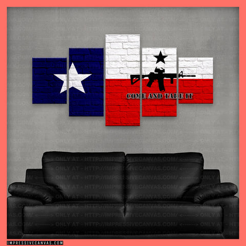 HD PRINTED LIMITED EDITION TEXAS - COME AND TAKE IT CANVAS (TXCMTI318091)