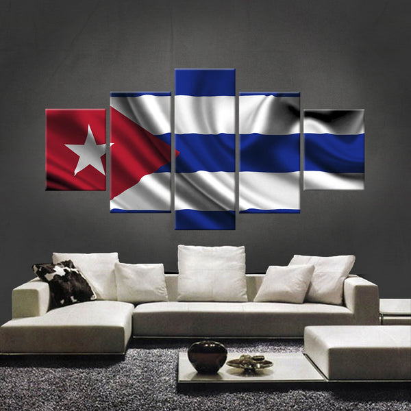 HD PRINTED LIMITED EDITION CUBAN (CUBA) FLAG CANVAS (FLAG120018)