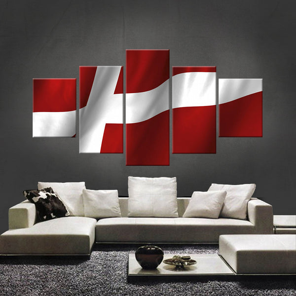 HD PRINTED LIMITED EDITION DANES (DENMARK) FLAG CANVAS (FLAG120020)