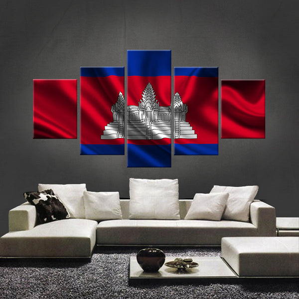 HD PRINTED LIMITED EDITION CAMBODIAN (CAMBODIA) FLAG CANVAS (FLAG120016)