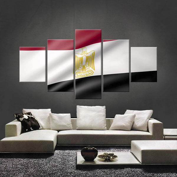 HD PRINTED LIMITED EDITION EGYPTIAN (EGYPT) FLAG CANVAS (FLAG120021)