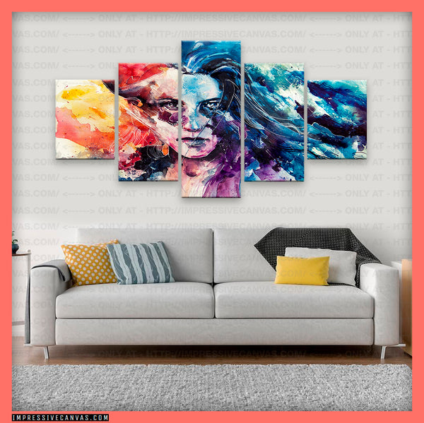 HD PRINTED LIMITED EDITION ABSTRACT ART CANVAS (ABT170005)