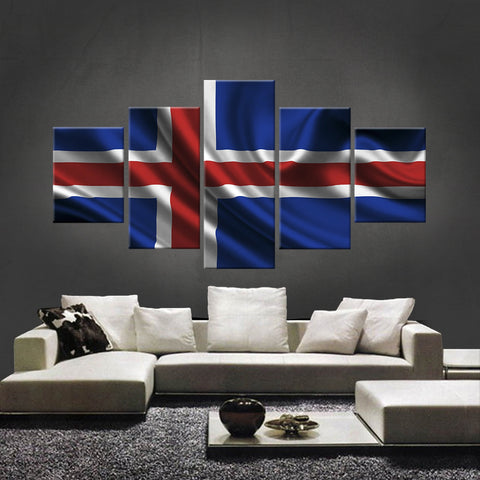 HD PRINTED LIMITED EDITION ICELANDER (ICELAND) FLAG CANVAS (FLAG120024)